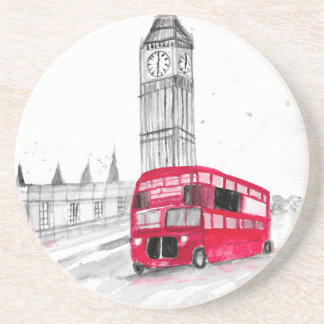 Red bus London Coaster