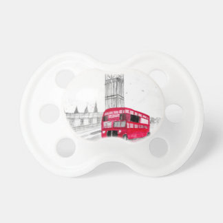 Red bus London Pacifiers