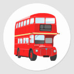 Red Bus Stickers