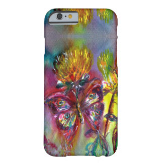 RED BUTTERFLIES ON YELLOW THISTLES,BLUE SKY Floral Barely There iPhone 6 Case