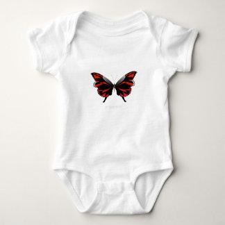 Red Butterfly 1 by tony fernandes Baby Bodysuit
