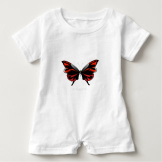 Red Butterfly 1 by tony fernandes Baby Romper