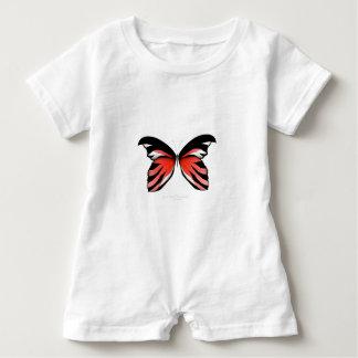 Red Butterfly 2 by tony fernandes Baby Romper
