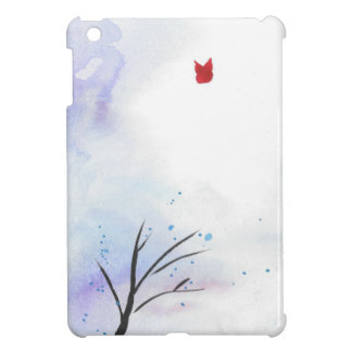 Red Butterfly Blue Forest Case For The iPad Mini