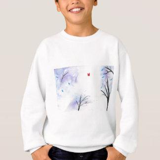 Red Butterfly Blue Forest Sweatshirt