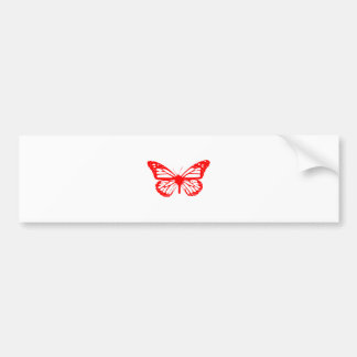 Red Butterfly Bumper Sticker