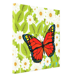 Red butterfly canvas prints