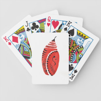 Red Butterfly Cocoon Bicycle Playing Cards