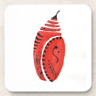 Red Butterfly Cocoon Coaster