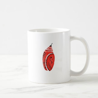 Red Butterfly Cocoon Coffee Mug