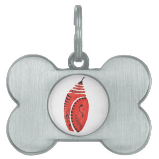 Red Butterfly Cocoon Pet ID Tag