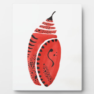 Red Butterfly Cocoon Plaque
