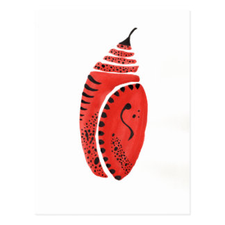 Red Butterfly Cocoon Postcard
