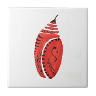 Red Butterfly Cocoon Tile