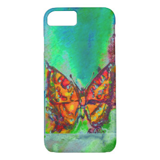 RED BUTTERFLY IN GREEN iPhone 8/7 CASE