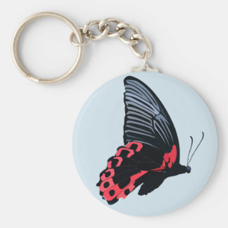 Red Butterfly Keychain - Blue