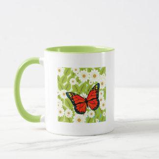 Red butterfly mug