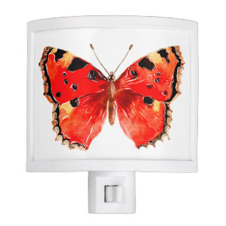 Red Butterfly Night Light