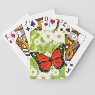 Red butterfly poker deck