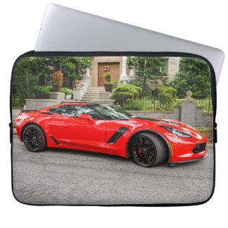 Red C7 Chevrolet Corvette Laptop Sleeve