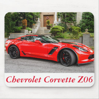 Red C7 Chevrolet Corvette Mouse Pad