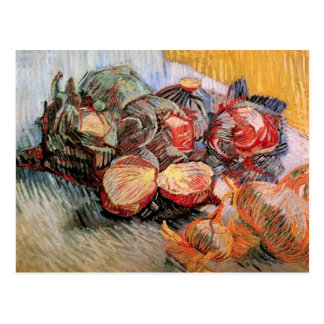 Red Cabbages and Onions by van Gogh Postcard