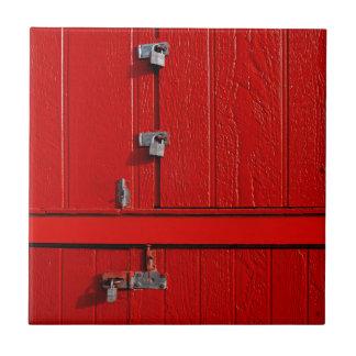 Red Cabinet Tile