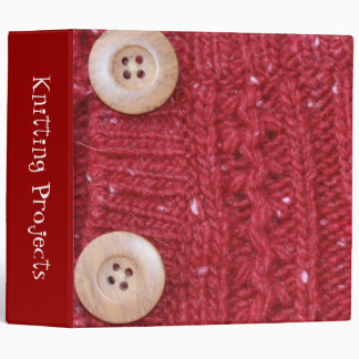 "Red Cable Knit and Two Buttons 2"" Binders"