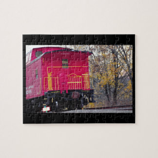 Red Caboose Train Photo Jigsaw Puzzle