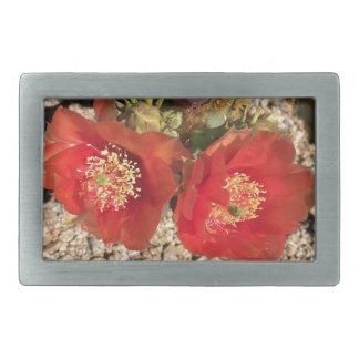Red cactus flower belt buckle