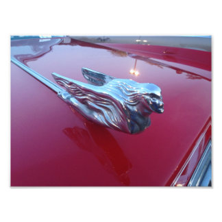 Red Cadillac Flying Woman Hood Ornament Photo Print