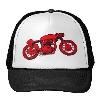 Red Cafe Racer Trucker Hat