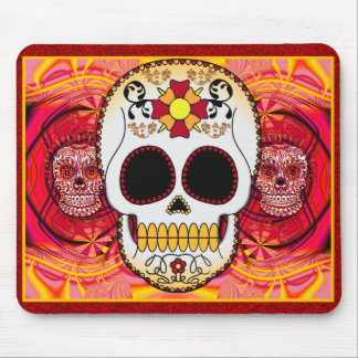Red Calaveras Mousepad