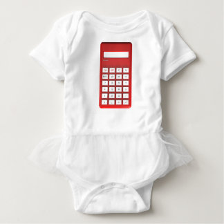 Red calculator calculator baby bodysuit