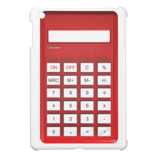 Red calculator calculator case for the iPad mini