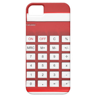 Red calculator calculator case for the iPhone 5