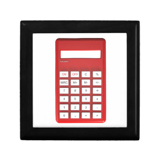 Red calculator calculator gift box