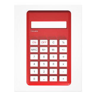 Red calculator calculator letterhead