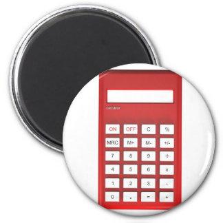 Red calculator calculator magnet