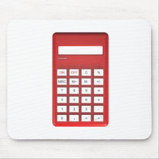 Red calculator calculator mouse pad