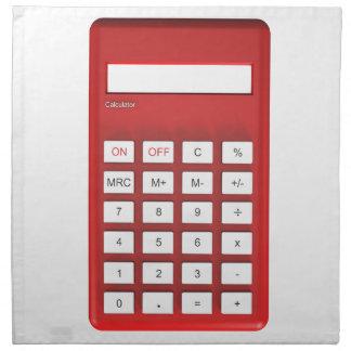 Red calculator calculator napkin