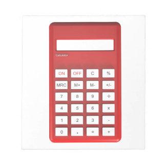 Red calculator calculator notepad