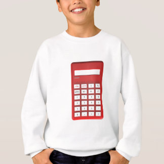 Red calculator calculator sweatshirt