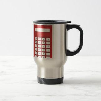 Red calculator calculator travel mug