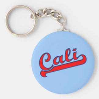 Red Cali California Logo on Blue Keychain