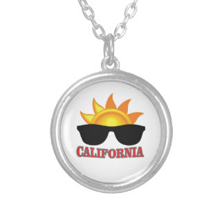 red California cool Silver Plated Necklace