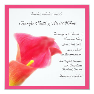 Red Calla Lily Wedding Invitation