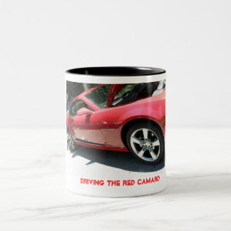 Red Camaro Two-Tone Coffee Mug
