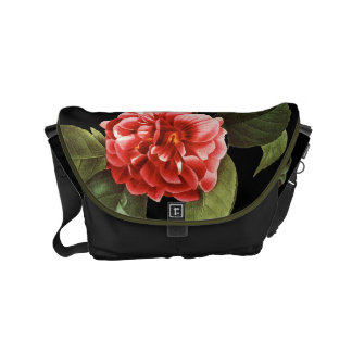 Red Camellia, 1833 Messenger Bag