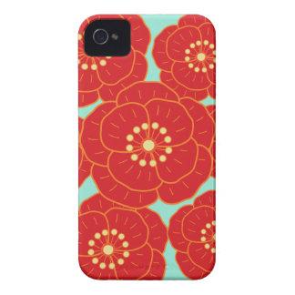 Red Camellia iPhone 4 Case-Mate Case